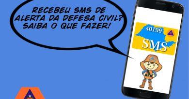 Defesa Civil alerta cidadãos sobre desastres naturais via SMS